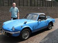 1972 Classic Car Triumph Spitfire. French blue. 1500cc engine