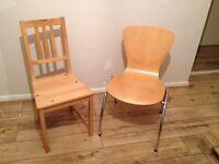 FREE - 2 wooden chairs in Welwyn Garden City
