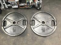 Olympic Weight Plates - 2 Inch - 2x20kg - 40kg Total