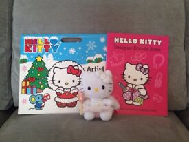 Hello Kitty Colouring Book and Soft Toy Bundle
