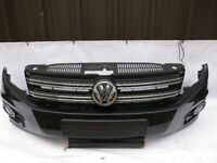 VW TIGUAN ESCAPE FRONT BUMPER 2012-16 IN BLACK GENUINE