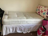Single bed with mattress underneath £40