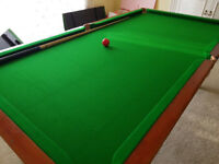 E.J Riley 6ft Dual Height Snooker Dining Pool Table Slate based