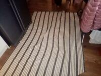 Black and White stripe rug £20