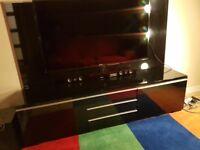 IKEA TV Stand black high gloss