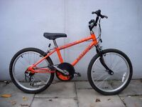 Kids Bike by Raleigh, Orange, 20 inch Wheels, Great for Kids 7+ years, JUST SERVICED/ CHEAP PRICE!!!