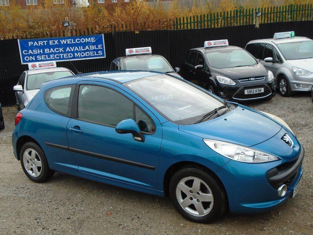 peugeot 207, 1.4 petrol, 3 door, metallic blue