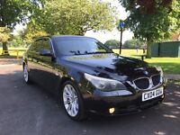 automatic black bmw 525d cream leather