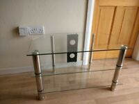 Glass TV stand for sale excellent condition