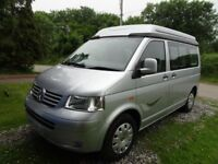 VW T5 Autosleeper Trooper 2007 . 2 Berth with hard-sided elevating roof. 2.5 litre
