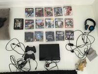 Playstation 3 with loads of 18 games