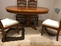 Dining table and 4 chairs and tv unit