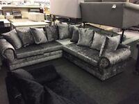 Large crush velvet Amelia sofa
