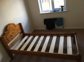 Single Pine Bed in Good Condition