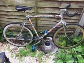 Single speed / fixed old school bike , cinelli handlebar