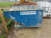 2015 conquip forklift tipping skip ideal for farm stables scrap rubbish building site etc