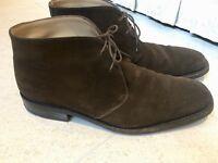 Luxurious Salvatore Ferragamo mens brown suede smart boots, shoes, 43.5 / uk9.5, rrp $520