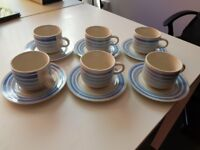 Cups and Saucers - Blue - Used