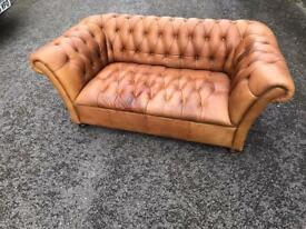 170 cm long Chesterfield John Lewis leather sofa possible delivery