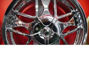 18 INCH NEW CHROME RIMS ALL 5 BOLT PATTERNS - SALE - CHROME