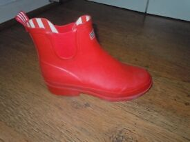 Red Ankle Wellies Boots