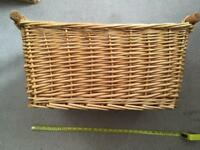 WICKER BASKETS x 3