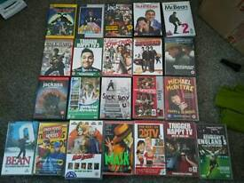 Selection of dvds and videos
