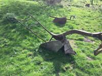 Pair of Antique Garden ploughs