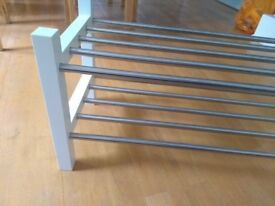 Ikea shoe rack TJUSIG, white