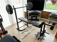 Gym equipment and weights training exercise