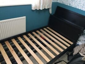 Black IKEA Single Bed