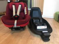 Maxi-Cosi 2way Pearl car seat & 2wayfix Isofix