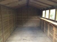 Large garden shed/potting shed with windows. 2.4m x 4.2m (approx 7.5 ft by 13.5) Excellent condition