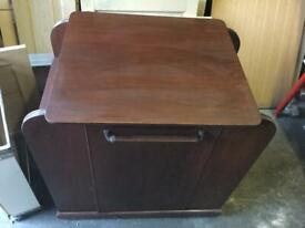 Excellent quality sturdy mahogany drinks cabinet. £30ono