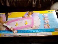 Tomy fold down soft bed rail