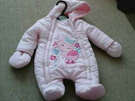 0-3mths baby snow suit