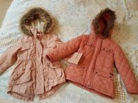 2 x Girls coats ages 4 to 5.