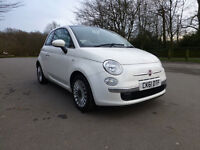Fiat 500 1.2 Lounge 3dr (start/stop) 1 former keeper, Low tax, Excellent condition