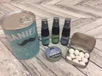 Personalised Men's Grooming Kit in a Tin