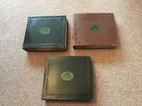 "Over 70 10"" 78rpm shellac records with 3 vintage HMV folders"