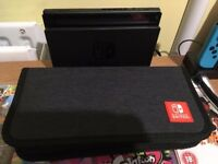 Neon Nintendo Switch with 4 games and accessories