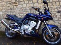 Stunning Yamaha FZS1000 Fazer, R1 EXUP engine, new BT23, 1yr MOT, Givi, quick-drain oil plug, x-ring