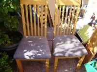 Chair / chairs, 2 different sets, good condition