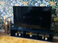 Tylko TV Stand, Navy Blue, As new condition, Cost £244 new