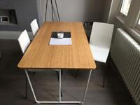 Lovely IKEA dining room table and 4 chairs