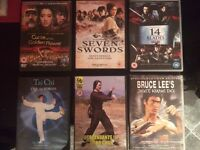 6 Classic Kung Fu DVD's!*RARE* Wing Chun, Tai Chi, Kung Fu, Bruce Lee, Jackie Chan, Boxing, MMA, UFC