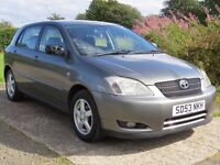 !!12 MONTHS MOT!! 2003 TOYOTA CORROLA 1.4 VVT / SERVICE HISTORY / 1 PREVIOUS OWNER / MUST SEE