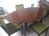 Rosewood Dining Room Table & Chairs