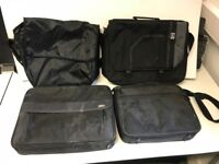 4 black laptop cases