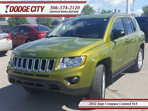 2012 Jeep Compass Limited 4x4 **PST PAID**